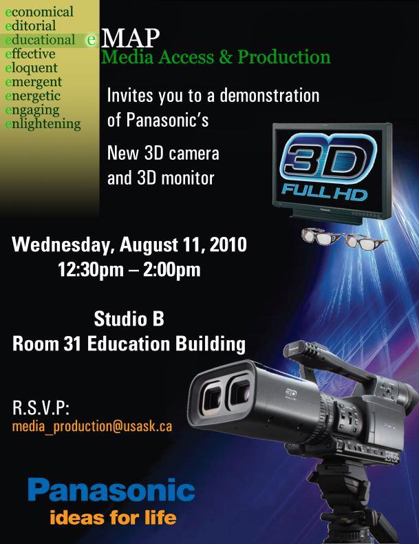 3D Invitation Poster